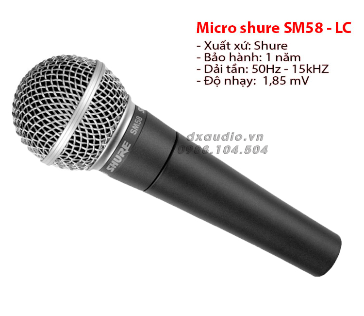 micro shure sm 58 thong so ki thuat
