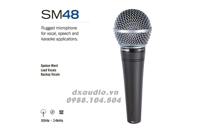 micro shure sm48 thong so ki thuat