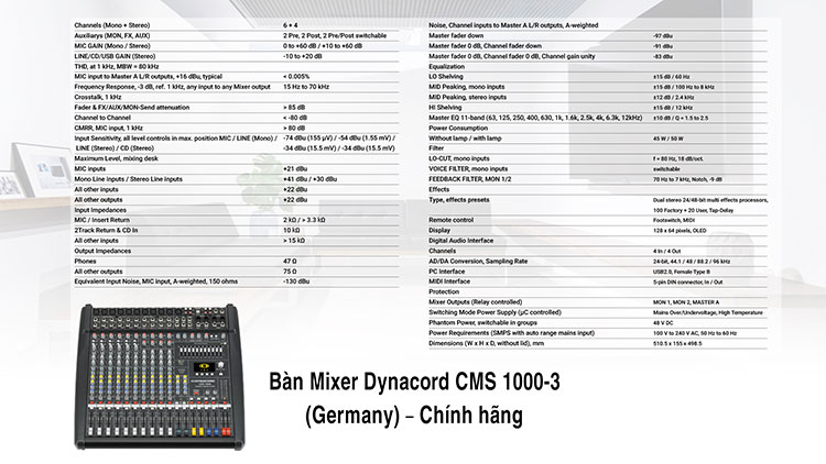 Mixer Dynacord CMS 1000 3